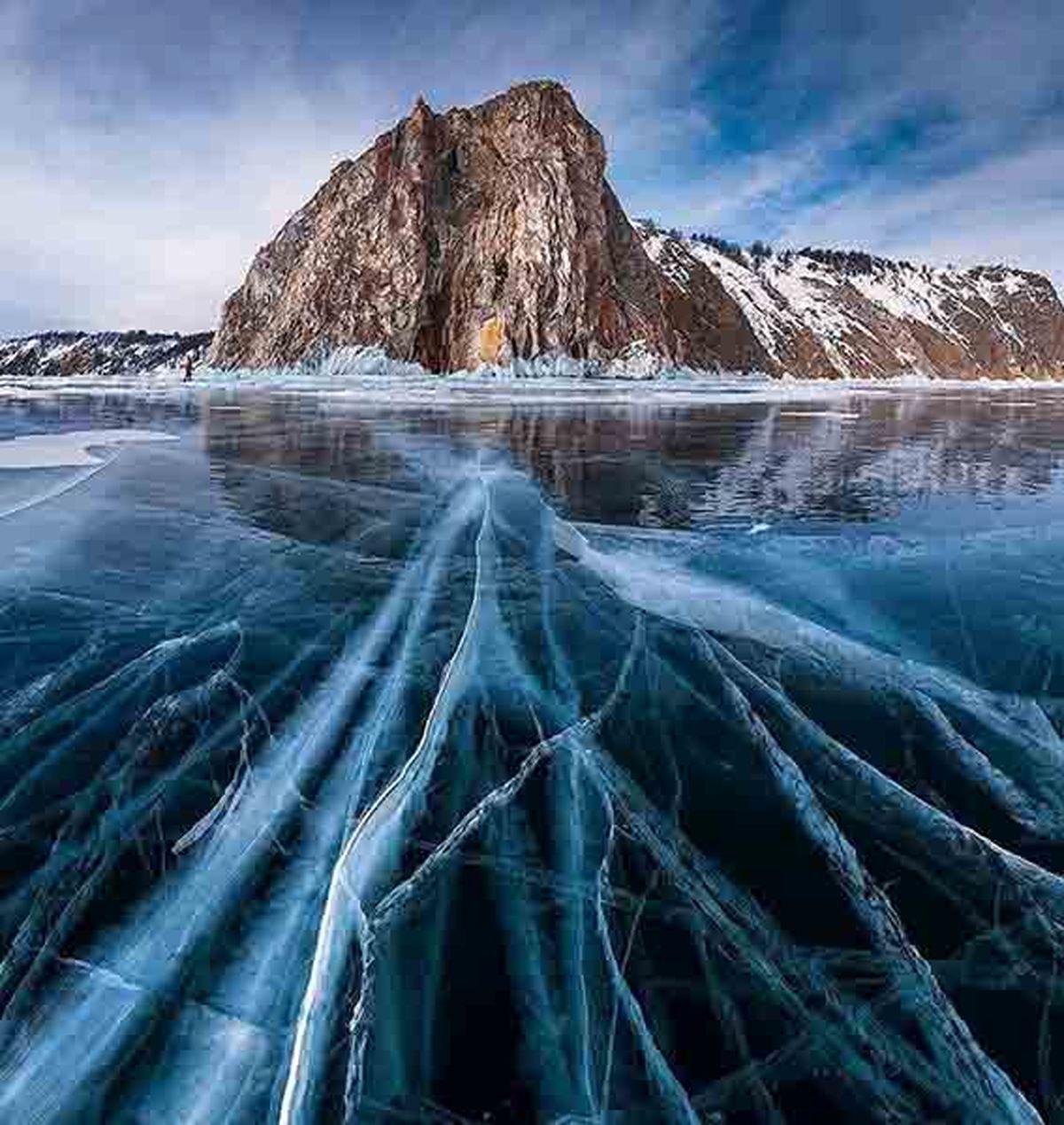 عمیق ترین دریاچه جهان با یک پنجم کل آب شیرین زمین + عکس