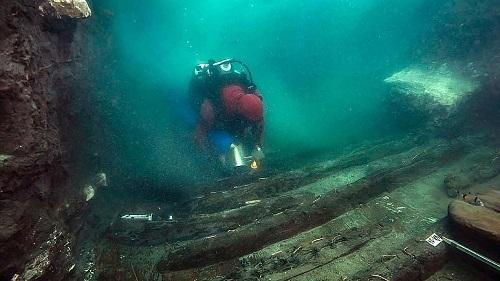 کشف کشتی نظامی در شهر زیر آب در مصر