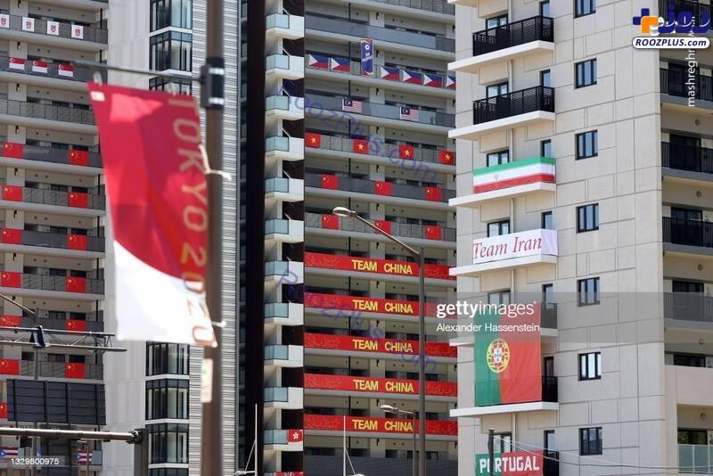 همسایه ایران در دهکده المپیک توکیو +عکس