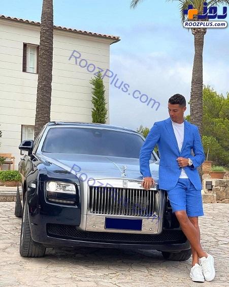 تیپ عجیب رونالدو در کنار خودروی سوپرلوکسش+عکس