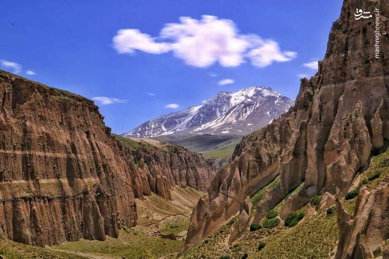 عکسی از ارتفاعات زیبای سبلان