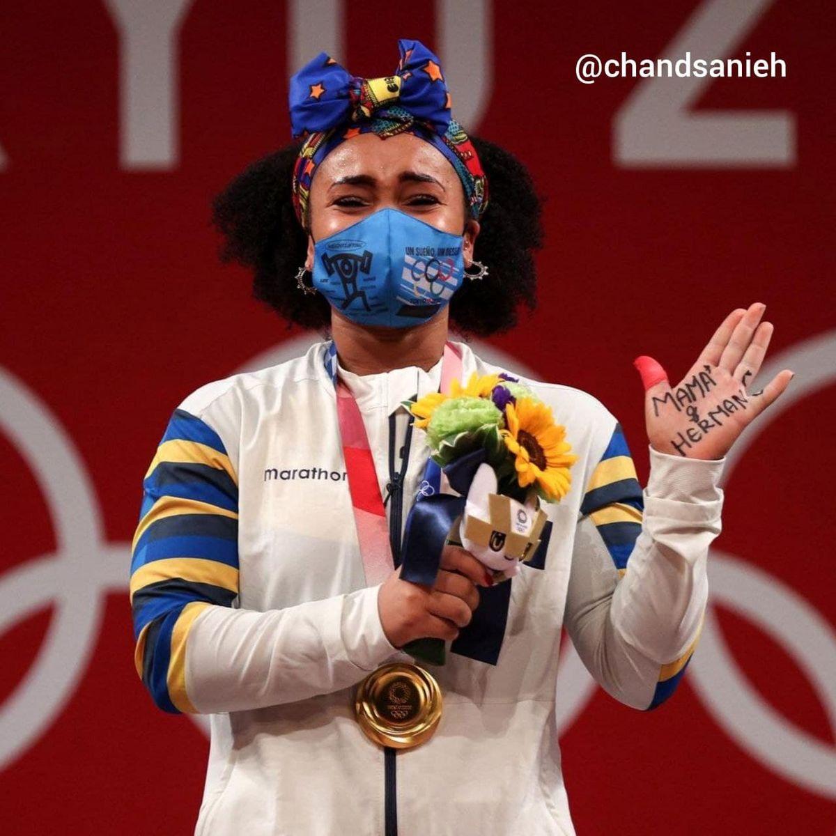 دست نوشته عجیب یک دختر المپیکی +عکس