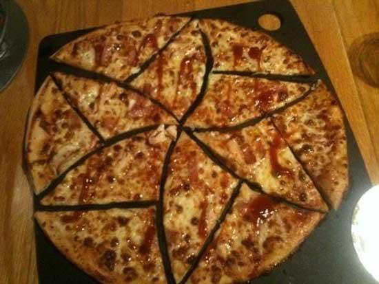 برش پیتزا به شکل مساوی توسط دو ریاضیدان!