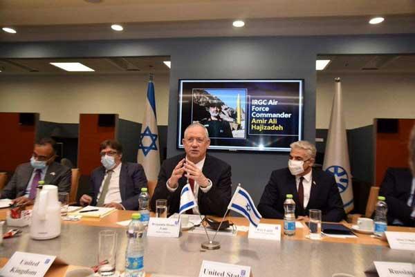 تصویر سردار سپاه در اتاق وزارت خارجه اسرائیل