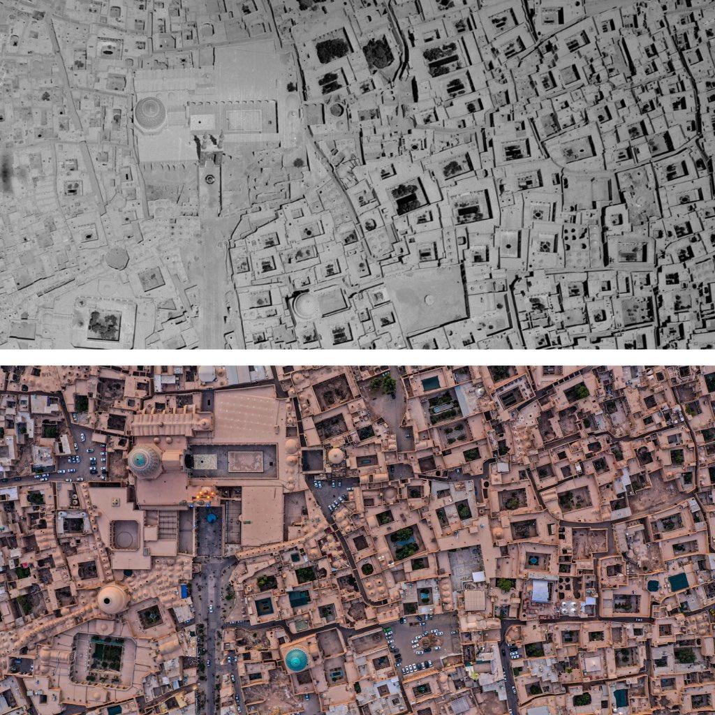 تصویر هوایی از بافت تاریخی یزد؛ ثبات 65 ساله