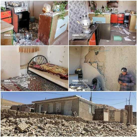 تصاویری از روستاهای زلزلهزده در قوچان