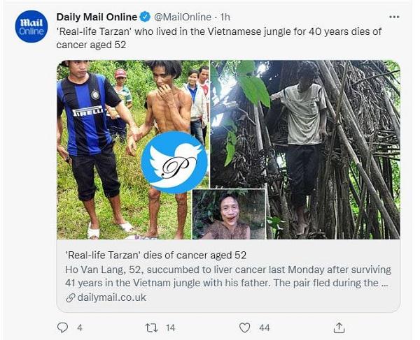 فوت تارزان واقعی در ۵۲ سالگی
