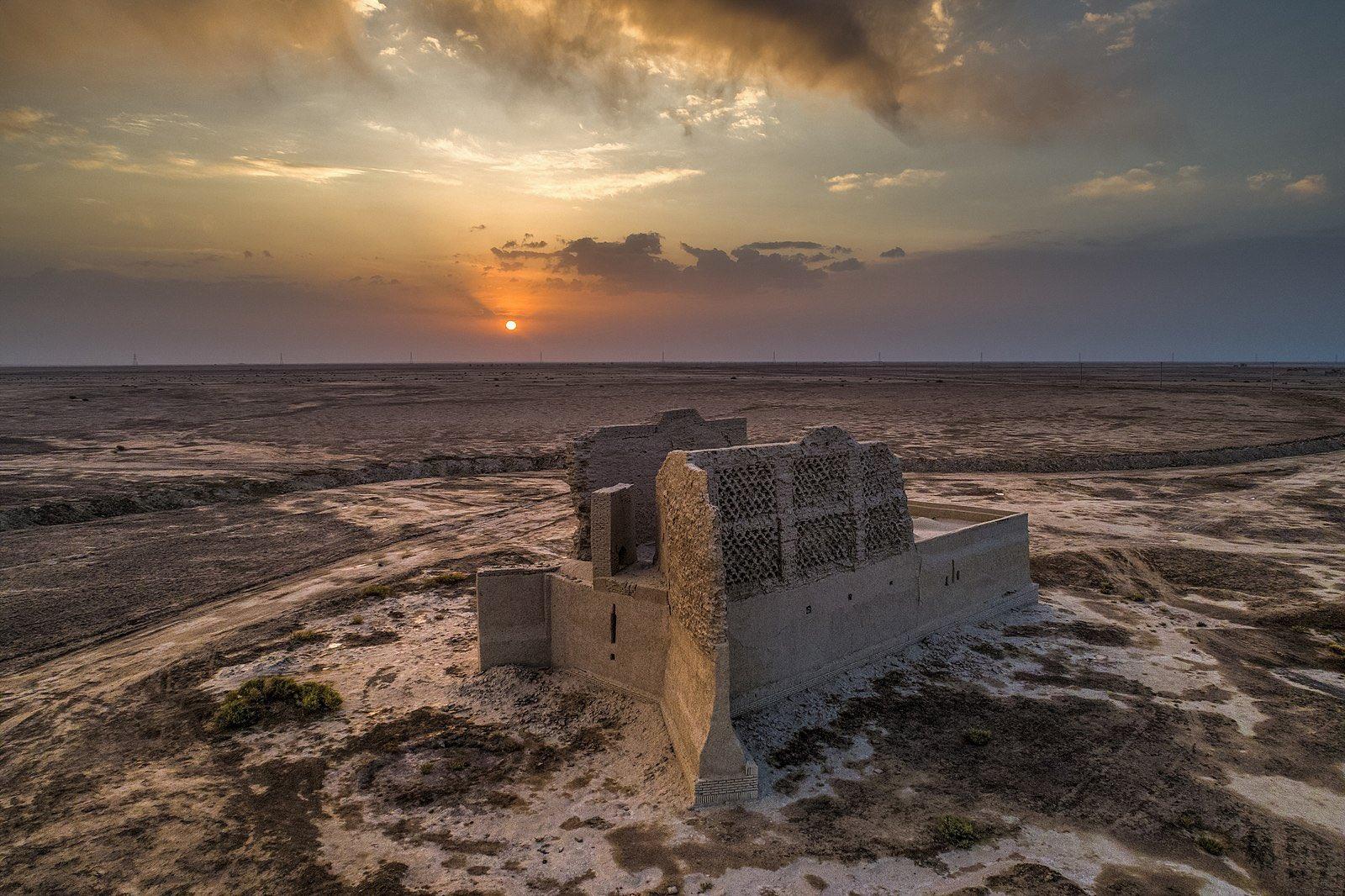 نمایی از آسیاب بادی در سیستان و بلوچستان