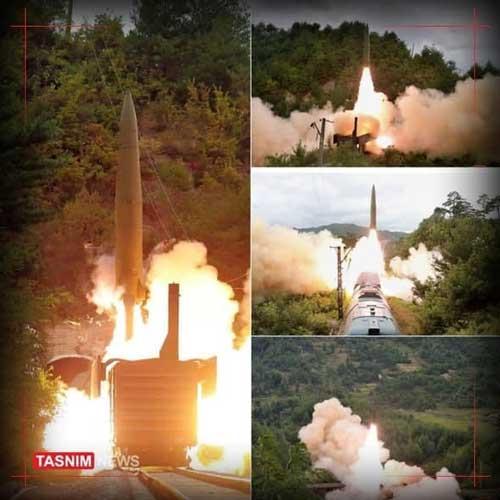 شلیک موشکهای کرهشمالی از روی قطار