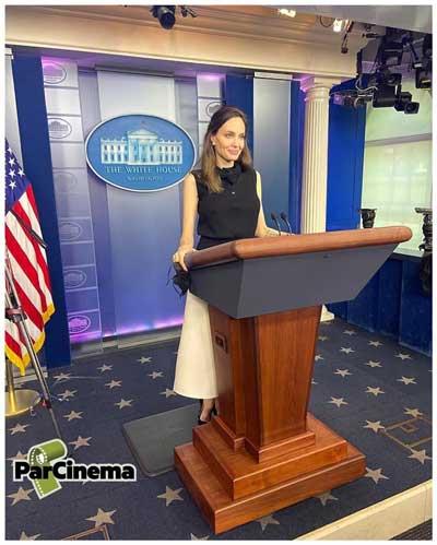 تصویری از حضور آنجلینا جولی در کاخ سفید