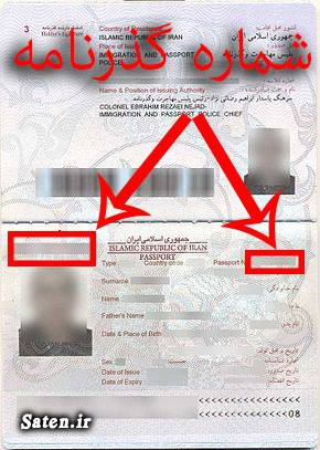 شماره پاسپورت کجاست؟ شماره بارکد گذرنامه کجاست؟