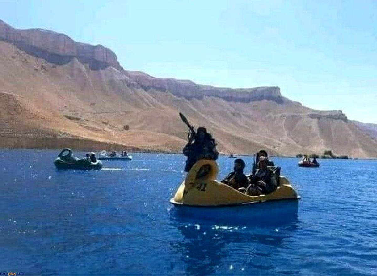 قایق سواری طالبان با آرپیجی در شهربازی+عکس