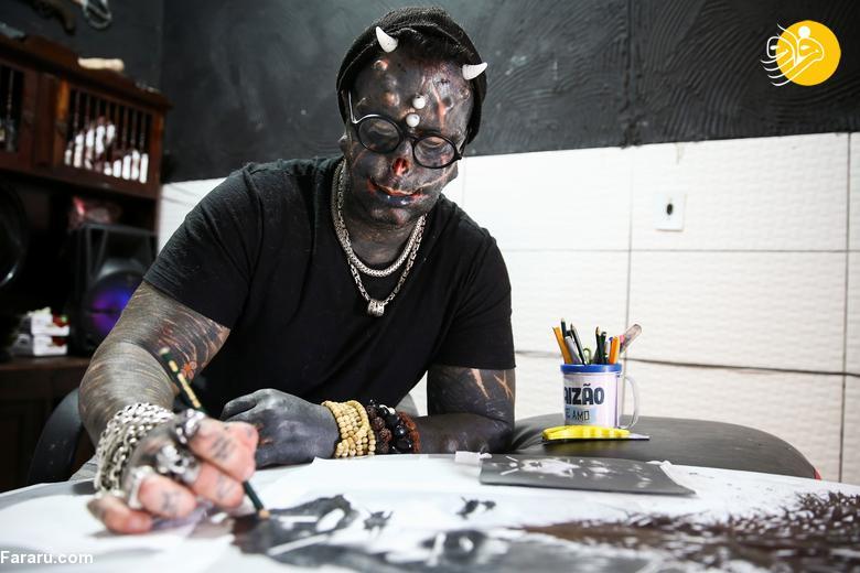 چهره ترسناک مردی که به شیطان معروف است + عکس