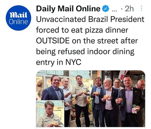 رئیسجمهور برزیل را به پیتزا فروشی راه ندادند!