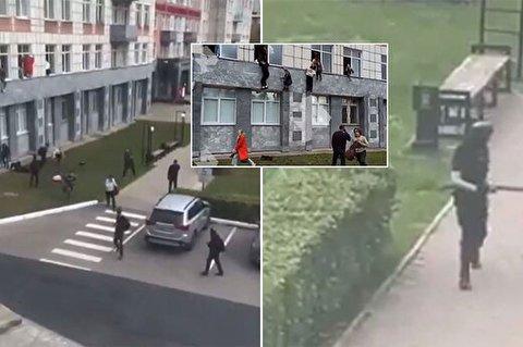 لحظه دلهرهآور فرار دانشجویان از حمله مسلحانه و مرگبار