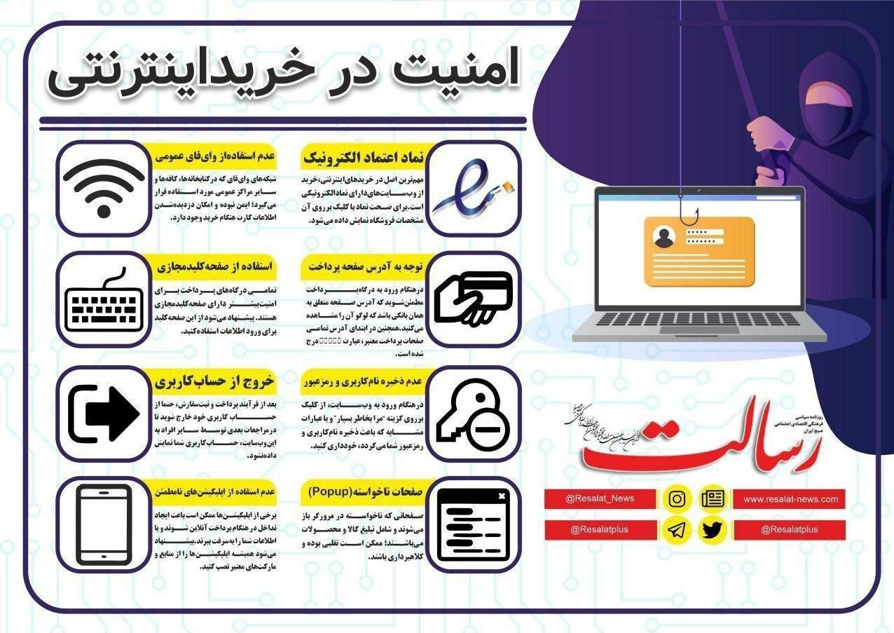 اینفوگرافیک/ امنیت در خرید اینترنتی
