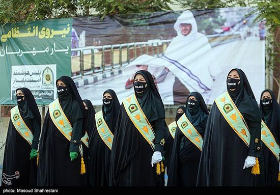زنان در مراسم صبحگاه مشترک پلیس تهران