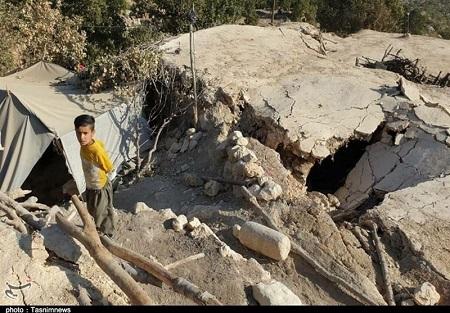 وضعیت زلزله زدگان اندیکا به روایت تصویر