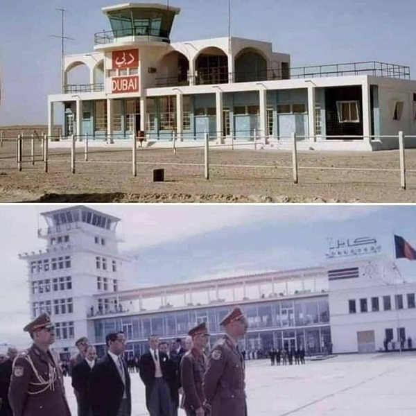 تصویر حیرت آور از مقایسه ۶۰ سال پیش فرودگاه دبی و کابل