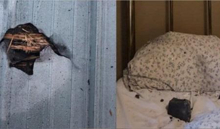 برخورد شهابسنگ به تختخواب زنی در کانادا