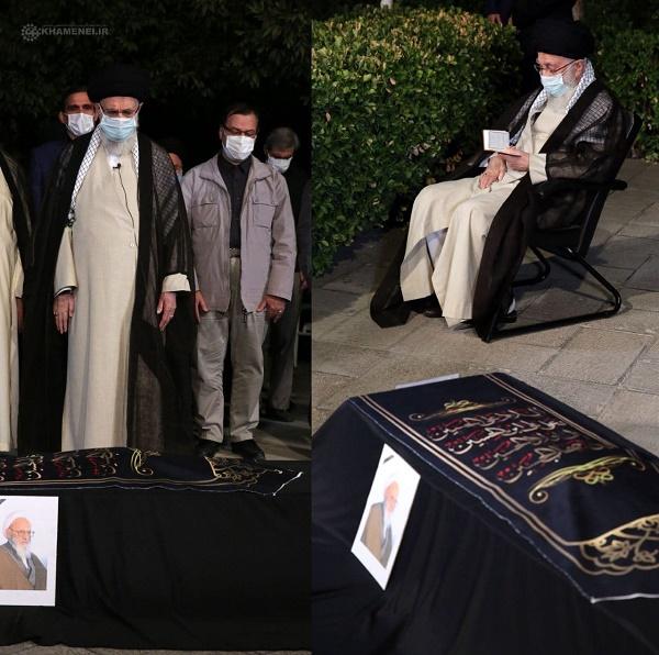 نماز رهبری بر پیکر آیتالله حسنزاده آملی