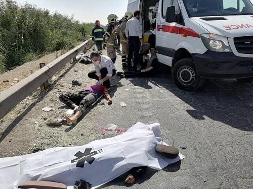 جزئیات تصادف خودروی ۲۰۷ با کامیون در تهران