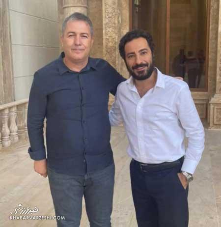 دیدار ستاره سینما با سرمربی تیم ملی فوتبال