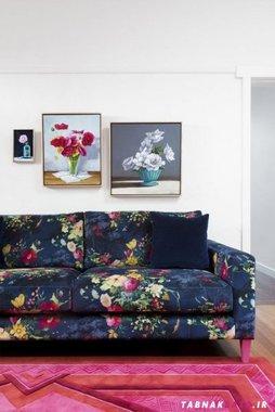 خانه ای دل انگیز با دکورهای بهاری رنگارنگ