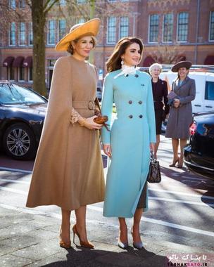 ملکه رانیا عبدالله و ملکه ماکسیما در یک قاب