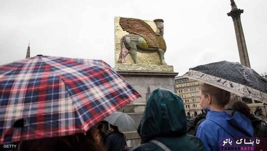 مجسمه ی گاو بالدار آشوری