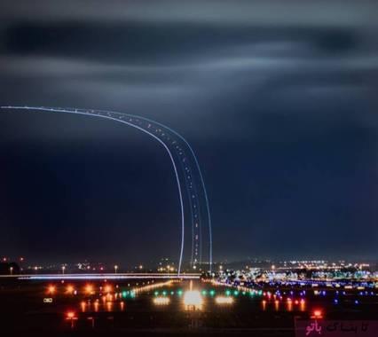 عکاس می خواست از فرودگاه عکس بگیرد, اما هواپیما در هنگام برخاستن از زمین تصویر زیبای دیگری خلق کرده بود