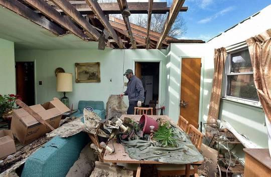 صدمات توفان در شهر