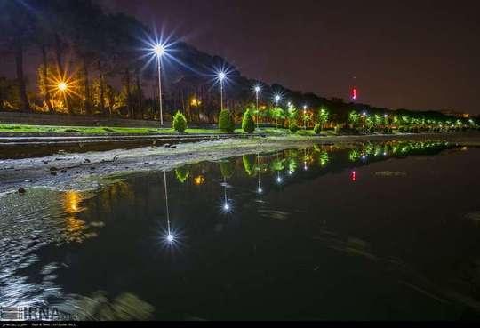 زاینده رود پس از بارش باران +عکس