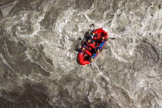 شرکت کنندگان مسابقه ی قایق سواری اینترالی سفید ۲۰۱۸ و جمهوری آدیگیا