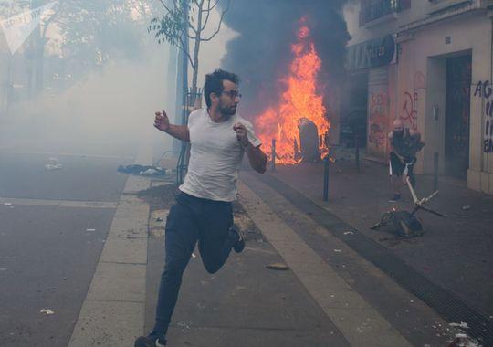 بی نظمی و اغتشاش در راهپیمایی روز کارگر در پاریس
