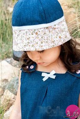برای دوخت این کلاه به پارچهی جین به ابعاد 35*30، پارچهی نخی به ابعاد 30*35 و نوار کلاه از پارچهی نخی به ابعاد 40*25 نیاز است البته بستگی به اندازهی سر کودک این میزان را میتوان کم یا زیاد کرد