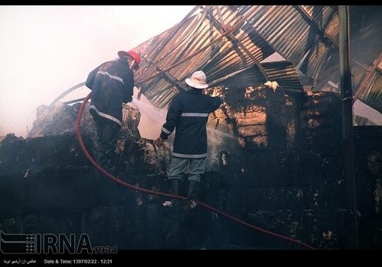 آتش سوزی در میدان شوش +عکس