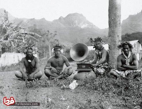 ساکنان نوکوهیوا - جزایر مارکز در سال 1907