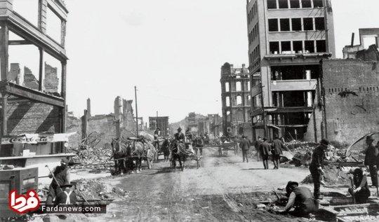 خیایان کرنی سن فرانسیسکو پس از زلزله سال 1906