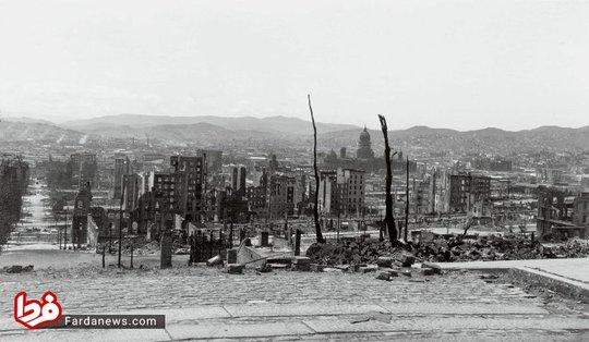 ویرانه های سن فرانسیسکو پس از زلزله سال 1906