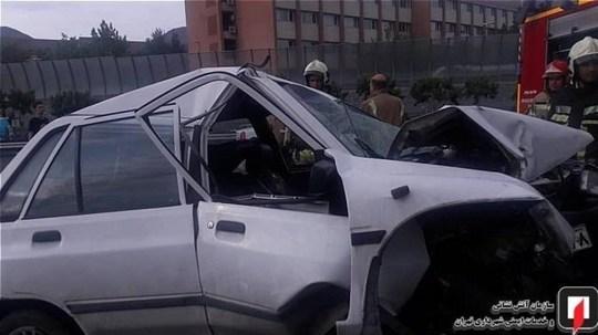 عاقبت تصادف پراید با کامیون را ببینید +تصاویر