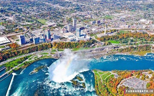 آبشارهای نعل اسبی در کانادا جزئی از آبشار نیاگارا