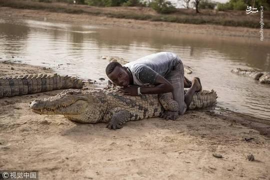 سرگرمی دلهره آور جوانان در غنا +عکس
