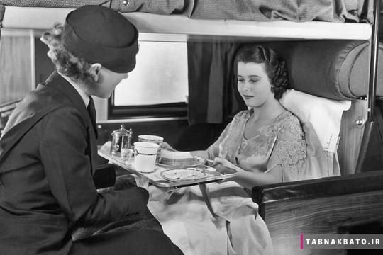 صبحانه در رختخواب در خطوط هوایی آمریکا سال 1935 میلادی