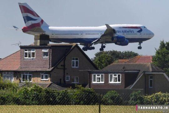 بریتانیا: هواپیمای بوئینگ 747 در آستانه ی فرود در فرودگاه هیثرو لندن