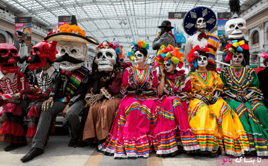 جشن روز مردگان از سوی هواداران مکزیک در روسیه برگزار شد