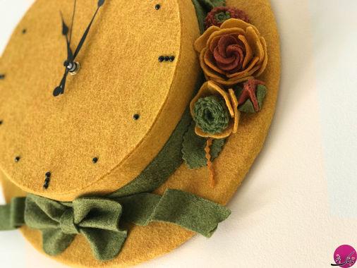 آموزش ساخت ساعت دیواری به شکل کلاه پاییزی