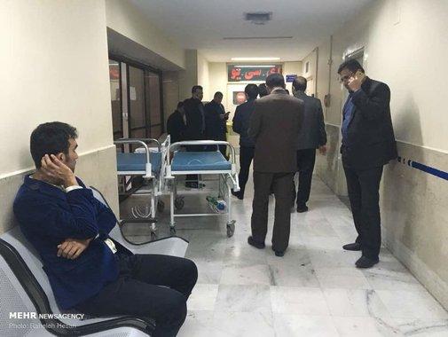 تصاویری از حالوهوای بیمارستان بعد از تصادف نوربخش
