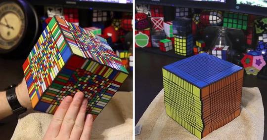 آیا تا به حال میدانستید که مکعب روبیک ۱۷ در ۱۷ هم وجود دارد؟ حل کردن این مکعب روبیک خیلی دشوار است و به طور متوسط ۱۷ ساعت زمان میبرد.