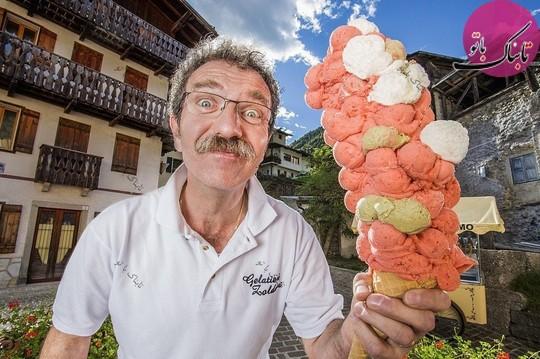 بزرگترین بستنی مخروطی دنیا.